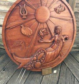 """36"""" Spirit of Sarasota Carved Plaque"""
