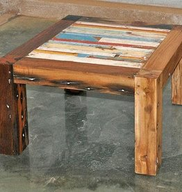 Teak Slat Finger Table 24x24