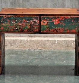 Teak Achmad 2 Drawer Console
