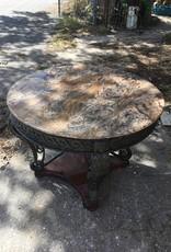 "Granite Top w/ Iron Base 40"" Table"