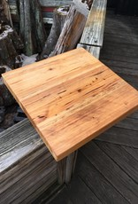 "Pecky Cypress 18""x18""x2"" Side Table"