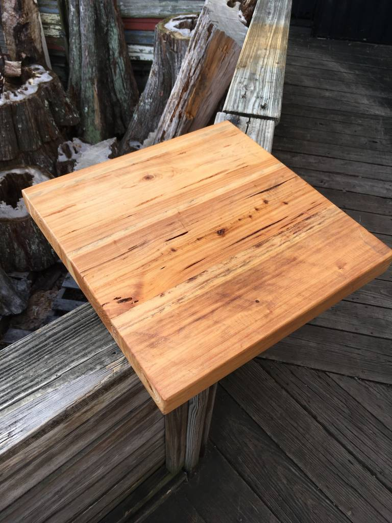 "Pecky Cypress 18""x18""x2"" Side Table Top"