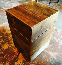"15""x15""x24"" Cube Cypress Night Stand"