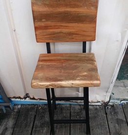 Spalted Maple Swivel Back Stool