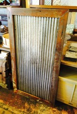 30x54.5 Framed Corrugated Metal