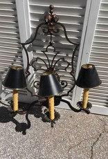 3 Light Ornate Iron Wall Sconce