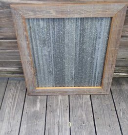 "28""X 28"" Framed Corrugated Metal"
