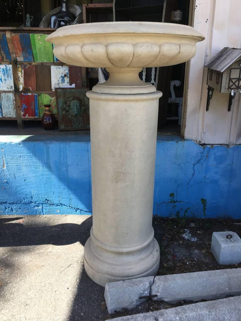 Large Stone Column w/ Planter Top