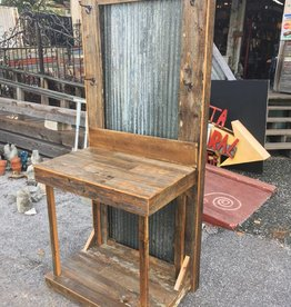 Cypress Console w/ Corrugated Metal