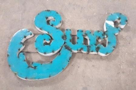 Surf Tin Sign