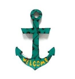 Small Tin Welcome Anchor 16.5x13x1.5