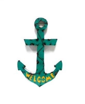 Medium Tin Welcome Anchor 20x15x1.5