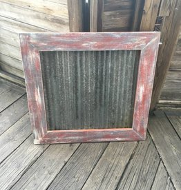 31x32 Framed Corrugated Metal Panel