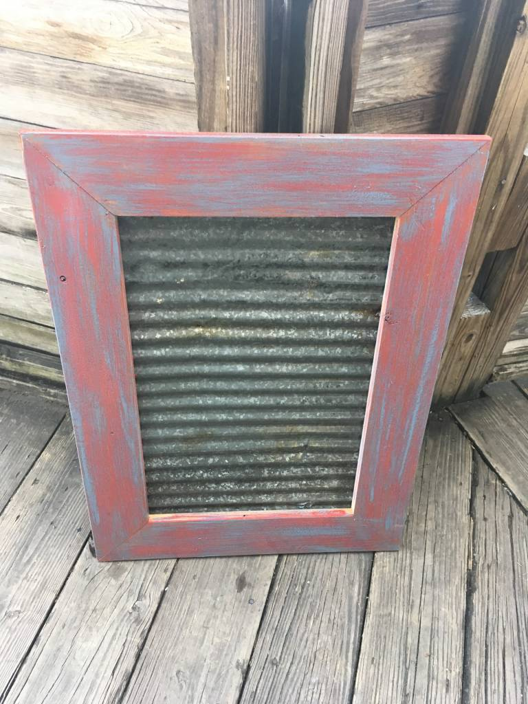 31x23 Framed Corrugated Metal Panel