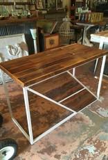 Modern Reclaimed Cypress Desk w/ White Base