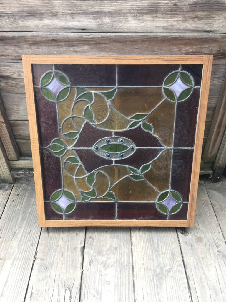24x25.5 Framed Stained Glass