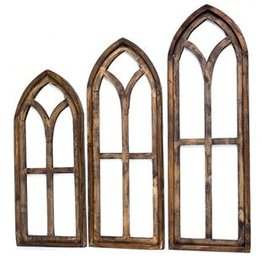 Medium Pisa Wood Window 32.5x12x1.5