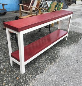 Purple Heart Console w/ White Base 69x12x31