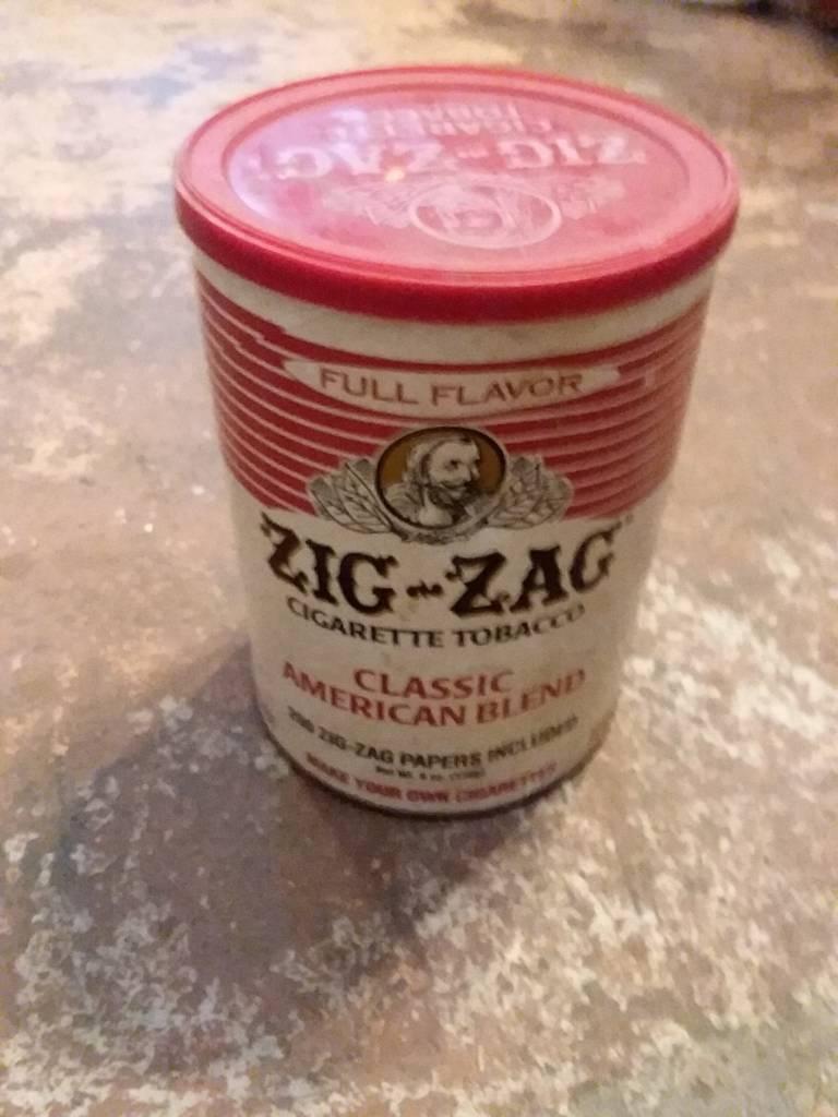ZigZag Ciggerette Tobacco Can