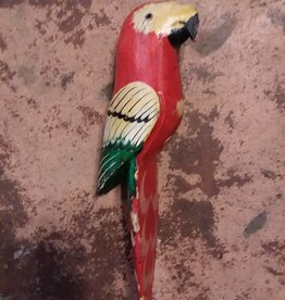 Carved Wooden Macaw