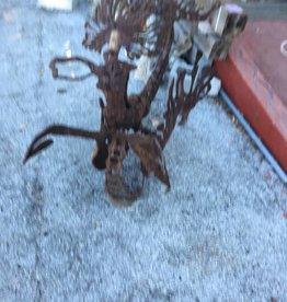 Rusty Iron Mermaid Sea Sculpture Statue