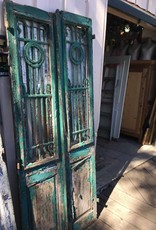 Green Shabby Egyptian Door Set 34x85