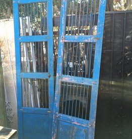 Bright Blue Tiger Door Set 48x93