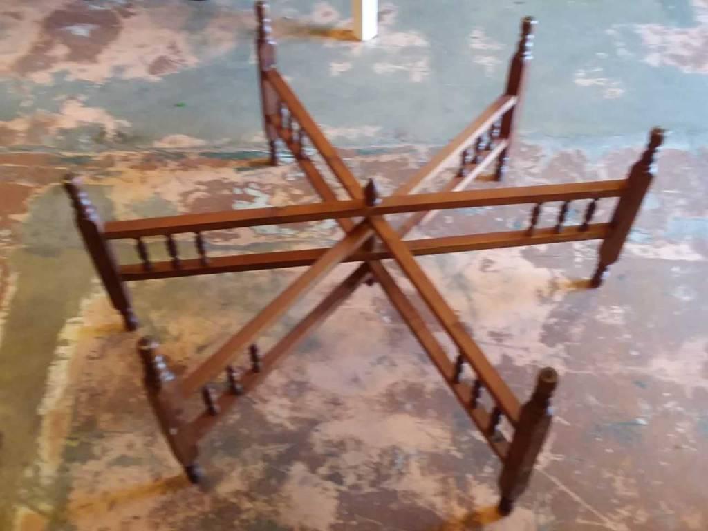 Foldable Wood Coffee Table Base
