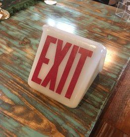 Glass Milk Exit Sign