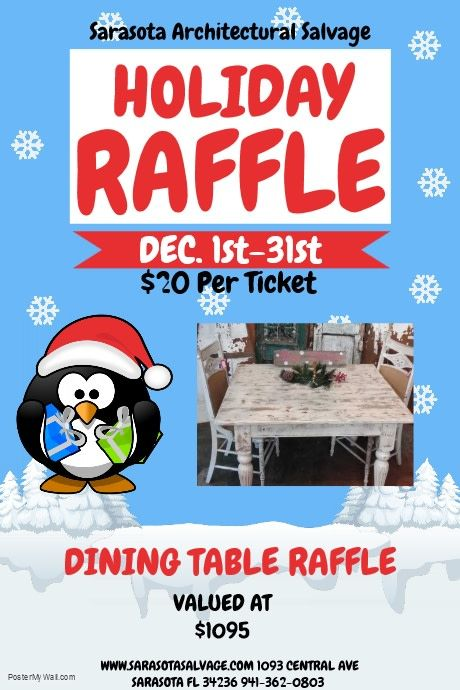 Dining Table Raffle Ticket