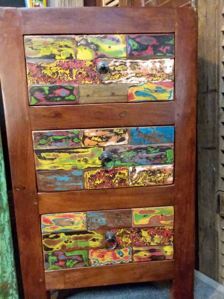3 Drawer Reclaimed Night Stand