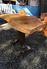 Deodora Cedar Live Edge Table w/ Industrial Base