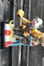 Resin Clown Figure With Lion