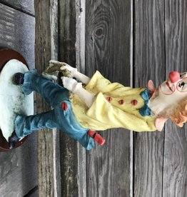 Resin Clown With Hammer Figure