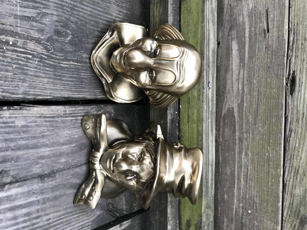 Bronze Clown BookEnd Set
