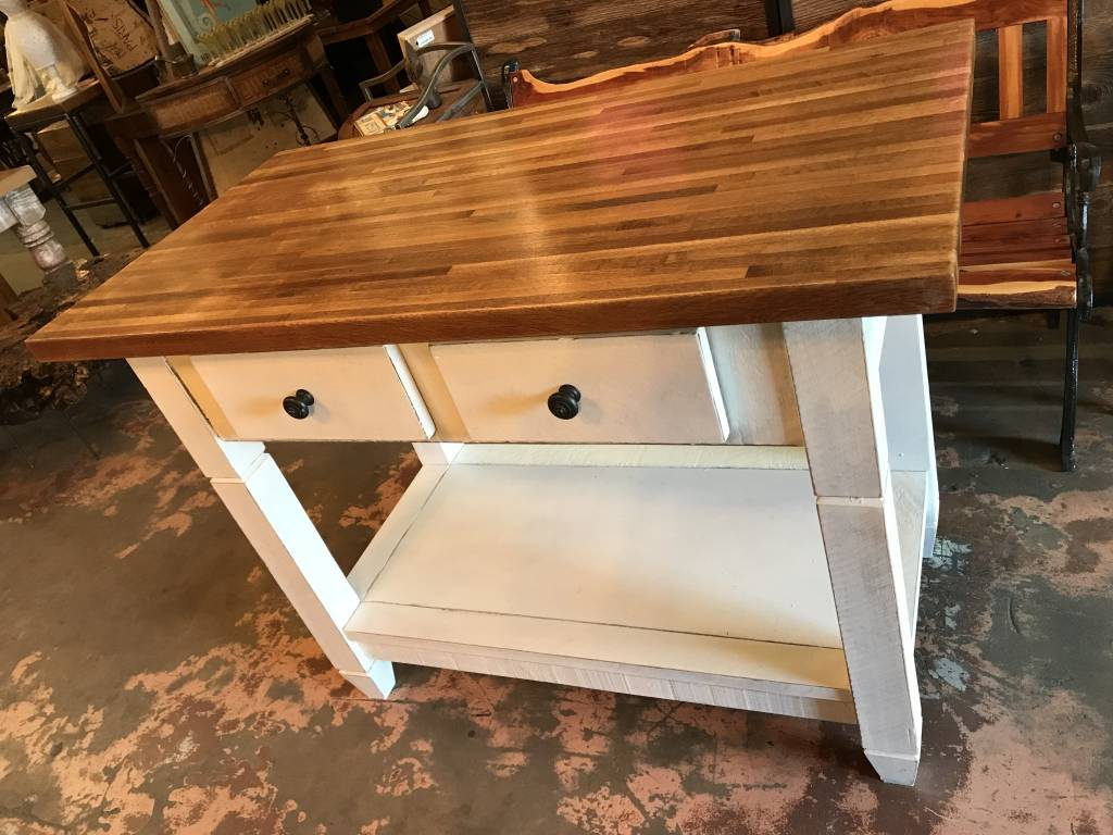 High Quality 2 Drawer Maple Butcher Block Island ...