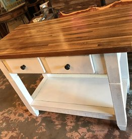 2 Drawer Maple Butcher Block Island