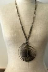 Clock Hand Steam Punk Necklace