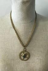 Gold Gear Steam Punk Necklace