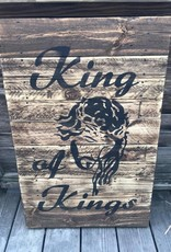 King of Kings Wood Sign
