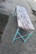 Reclaimed Cypress Teal Base Console