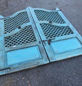 Lattice Style Indian Gates Blue