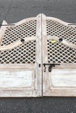 Lattice Style Indian Gates White