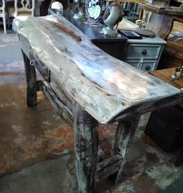 Shabby Chic Live Edge Console
