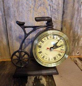Iron Bicycle W/ Clock