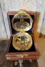 Brass Compass W/ Case Style 2