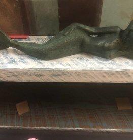 Lying  Mermaid Vintage Green