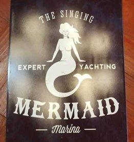 Signing Mermaid Metal Sign