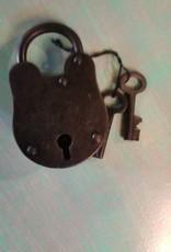 "Iron Lock & Key Set 3"""