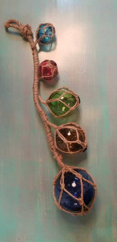Glass Floats on Rope